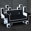 Nothing says uber-geek quite like a Space Invaders sofa - photo 1
