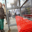 Lego bus stop appears in London replacing the real thing - photo 1
