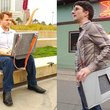 OpenAire laptop bag transforms into a chair and mobile workdesk - photo 2