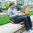 OpenAire laptop bag transforms into a chair and mobile workdesk - photo 4