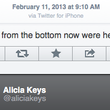 BlackBerry Creative Director Alicia Keys tweets from her iPhone - photo 2