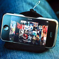 MovieWedge mini bean bag iPhone stand available