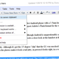 Google Docs gets web clipboard