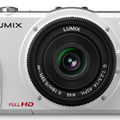 Panasonic Lumix GF2 compact DSLM pans into view