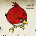 Angry Birds ornithological fan art would make cracking poster