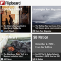 Flipboard fires in magazine style pages for iPad