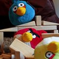 Angry Birds plush toys hands-on