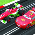 Cars 2 Scalextric races to the shops
