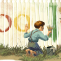 Google Doodle goes widescreen for Mark Twain