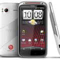 White HTC Sensation XE landing 20 February