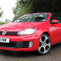 Volkswagen Golf GTi cabriolet first drive pictures and hands-on