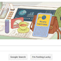 Interactive Google doodle celebrates Douglas Adams' birthday with Kindle-like Hitchhikers' Guide