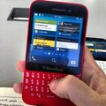 BlackBerry's next keyboard touting handset leaks in bright red