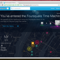 Foursquare's new Time Machine lets you visualise check-in travels