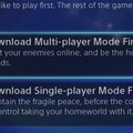 PS4 games will let you choose to download single-player or multiplayer first