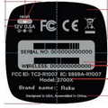 Roku 2700X streaming hub hits the FCC with entry-level specs