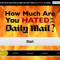Website of the day: How Much Are You Hated By The Daily Mail?