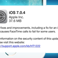 iOS 7.0.4 update released with FaceTime bug fix