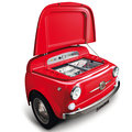 Smeg launches red variant of SMEG500, a chopped up Fiat 500 fridge