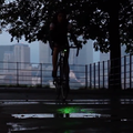 Bike laserlight wants to cut down on blindspot accidents with Batman-like signal