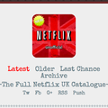Website of the day: NewOnNetflixUK