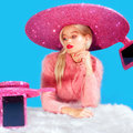 Forget the selfie stick: Acer made a glittery selfie sombrero for London Fashion Week