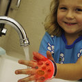 Electrolux HP+ wearable concept projects on the hand to make learning fun