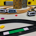 The Intelino smart coding train brings new life to your wooden train set