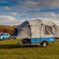 Nissan x Opus camper plus whole week EV battery equals glamping made easy