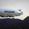 Watching drones exit this giant Amazon hover blimp is borderline dystopian