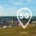 La red 5G de EE en Glastonbury es la mayor instalación temporal de 5G