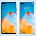Huawei P40 and P40 press images leaked, different screen styles shown