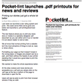 Pocket-lint launches .pdf printouts for news and reviews