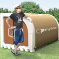 Eco-friendly tent you can leave behind will be ready for festivals next year