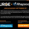 Real's Rhapsody and MTV's Urge merges into Rhapsody America