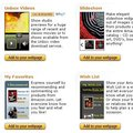 Amazon offers widgets for bloggers