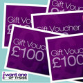 Win £100 of I Want One Of Those vouchers