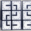 Massive clock project uses 24 individual clocks to tell time