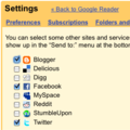 Google Reader adds share options