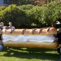 VIDEO: Giant foam Eclair arrives at Google HQ