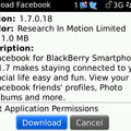 Facebook for BlackBerry gets updated