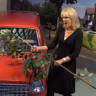 Joanna Lumley shins up a ladder, hits a car, to launch TalkTalk's YouView service - photo 1