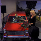 Joanna Lumley shins up a ladder, hits a car, to launch TalkTalk's YouView service - photo 8