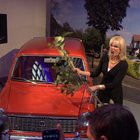 Joanna Lumley shins up a ladder, hits a car, to launch TalkTalk's YouView service - photo 9