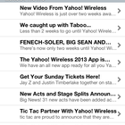 App of the day: Yahoo! Wireless Festival 2013 (iOS / Android / Blackberry) - photo 8