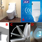 Fancy toilet plays music and lights up the night - photo 3