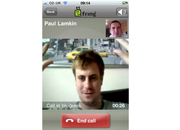 iPhone 4 video calling on 3G with Fring - photo 2