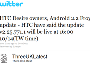 Three: HTC Desire Froyo update incoming - photo 2