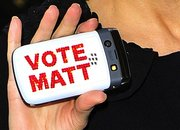 X-Factor's Dannii Minogue campaigns for Matt Cardle with BlackBerry Bold - photo 2