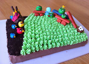 New Angry Birds birthday cake baked - photo 2